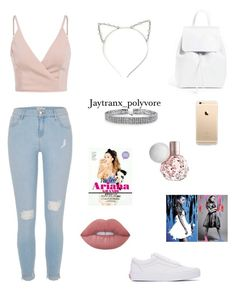Ariana grande concert outfit by jaytranx on Polyvore featuring polyvore mode style River Island Vans Mansur Gavriel Bling Jewelry Lime Crime fashion clothing