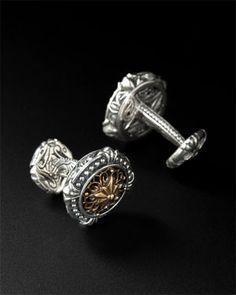 Scott Kay Men's 'Unkaged' Silver & Brass Cufflinks #MichaelAnthonyJewellers