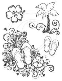 Sketchy Flip Flops