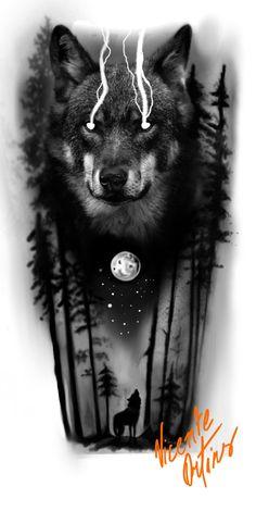 Wolf Face Tattoo, Wolf Tattoo Forearm, Wolf Tattoos Men, Wolf Tattoo Sleeve, Best Sleeve Tattoos, Viking Tattoos, Lion Tattoo, Tattoos For Guys, Owl Tattoos