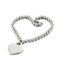Khloe Titanium Bracelet Heart Charm, Charmed, Silver, Bracelet, Jewelry, Copper, Silver Jewellery, Steel, Bracelets