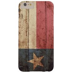 Texas State Flag on Old Wood Grain Barely There iPhone 6 Plus Case