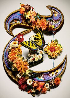 """Second Nature: Quilled NYT """"T"""" by Sherry Rodehaver"""
