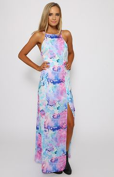 Bossy The Label - Look-Back Dress - Waterfront Print | Clothes | Peppermayo