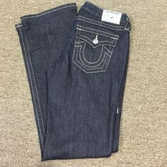 "True Religion dark Jeans Like new! EUC. Actual waist 32"" Inseam 33"" True Religion Jeans Boot Cut"