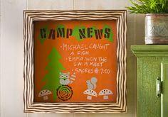 Click thru for the full #DIY tutorial for this Handmade Charlotte Camp News Chalkboard Shadow Box @Michaels Stores #FolkArtMulti #HandmadeCharlotte