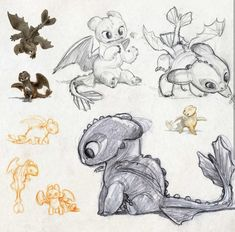I love drawing, especially illustration and character design. Animal Sketches, Art Sketches, Art Drawings, Drawings Of Dragons, Pencil Drawings, Httyd Dragons, Cute Dragons, Toothless Drawing, How To Draw Toothless