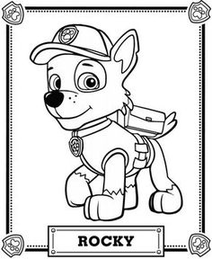 Paw Patrol Rocky Coloring Pages free online printable coloring pages, sheets for kids. Get the latest free Paw Patrol Rocky Coloring Pages images, favorite coloring pages to print online by ONLY COLORING PAGES. Paw Patrol Rocky, Rubble Paw Patrol, Bolo Do Paw Patrol, Paw Patrol Cake, Paw Patrol Party, Paw Patrol Birthday, Paw Patrol Coloring Pages, Cartoon Coloring Pages, Coloring Pages For Kids
