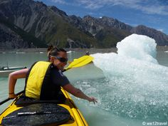 The best things to do in Mount Cook National Park in New Zealand - from the best hikes to kayaking to where to stay and see the sunrisde on Mt Cook + Glacier Lake, Mount Cook, Downhill Bike, Best Hikes, South Island, Kayak Fishing, Kayaking, Canoeing, The Good Place