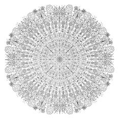 A big mandala for you to download, print and colour, with a leafy garden theme If you like my art, have a look at my crowdfunding campaign to publish a second adult colouring book. Includes fun per...