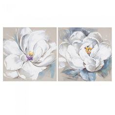 Resultado de imagen para cuadros de flores blancas