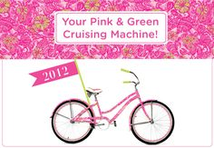 2012 printed cruiser in PINK & GREEN! @ duneberry.com