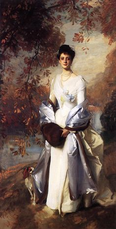 "artist-sargent: "" Portrait of Pauline Astor, 1898, John Singer Sargent Size: 127x248.92 cm Medium: oil, canvas"""