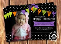 Halloween Photo Cards by FromHeadtoToeDesigns on Etsy, $12.00