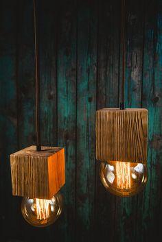 Pendant wood light Wood Pendant Light, Wood Chandelier, Rustic Lighting, Rustic Design, Sconces, Wall Lights, Bulb, Indoor, Vintage