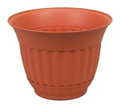 Misco 1597-051 Venetian Planter, 15-Inch, Clay by Misco. $15.99. Classic shaped updated with new design. 15-Inch diameter. Ideal for outdoor spaces. Integrated saucer. Color clay. This venetian planter has a classic shape updated with a new design with an integrated saucer. The perfect complement to any flowers or plants.
