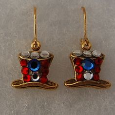 Fourth Of July Patriotic Earrings