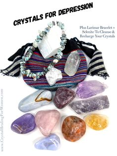 Crystals For Depression | CrystalHealingForWomen Rose Quartz Bracelet, Rose Quartz Heart, Healing Stones, Crystal Healing, Crystal For Anxiety, Overcoming Depression, Meditation Crystals, Negative Thinking, Emotional Healing