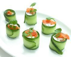 Party Finger Foods, Finger Food Appetizers, Tapas, Salmon Appetizer, New Recipes, Healthy Recipes, Salad Rolls, Mini Foods, Food Inspiration
