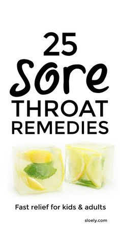 25 best sore throat remedies for fast relief for kids and for adults. These quick DIY sore throat remedies including sore throat teas plus sore throat gargles, popsicles, gummies, smoothies, soup, slushies and more that you can make easily as home remedies. #sorethroat #sorethroatremedy #sorethroatremedies #sorethroattea #sorethroatrelief #sorethroathomeremedy Oils For Sore Throat, Sore Throat Relief, Sore Throat And Cough, Throat Pain, Sore Throat Remedies For Adults, Earache Remedies, Home Remedies, Natural Remedies, Souvenirs