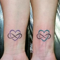 Mother & Daughter matching eternal love tattoos