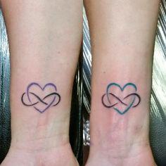 Mother & Daughter matching eternal love tattoos