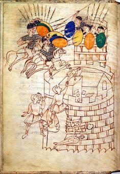 Attack on a citadel. The Leiden I Maccabees manuscript / Codex Per F ...