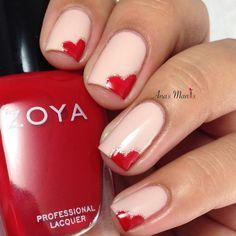 nails.quenalbertini: Valentine's Heart Nails | Ana's Manis