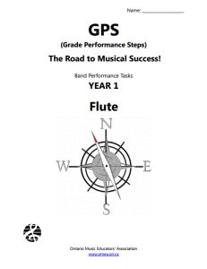 Grade Performance Steps - a free book you can use in your beginning music classes (all traditional band instruments are included)