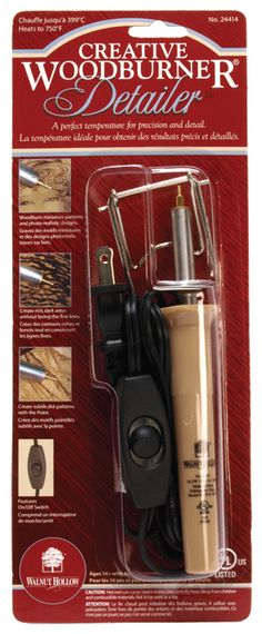 Creative Woodburner Detailer -wood burning tool $10.89 or 20 at JoAnn fabric superstore, have one.This is so useful not just to burn design on the wood, but also to fix radios, it melt metal wire's too.