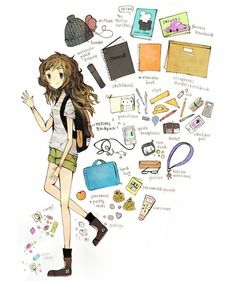 What In My Bag, What's In Your Bag, Book Journal, Bullet Journal, Drawing Bag, Reference Images, Character Development, Meet The Artist, Aesthetic Art