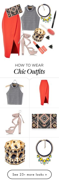 """""""Untitled #343"""" by renae-perrie-edwards on Polyvore featuring C/MEO COLLECTIVE, River Island, Kardashian Kollection, Chloe + Isabel, New Look, NYX, Mason Pearson and Trish McEvoy"""