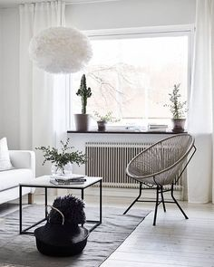 A beautiful living room inspiration via @stadshem. Eos lamp shade available online at @istome_store.