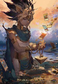 Atem,Pharaoh-The Pharaoh YuGiOh Atem Pharaoh DuelMonsters Card Anime Art AnimeArt Manga Anime, Fanarts Anime, Manga Art, Anime Art, Anime Boys, Manga Drawing, Fullhd Wallpapers, Animes Wallpapers, Animation