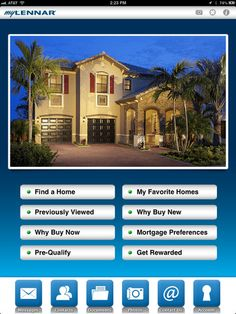myLennar app evolves with you during your home-buying experience! The dashboard automatically changes as you search, buy and own your home! You can customize it w/ your favorite home photos too!