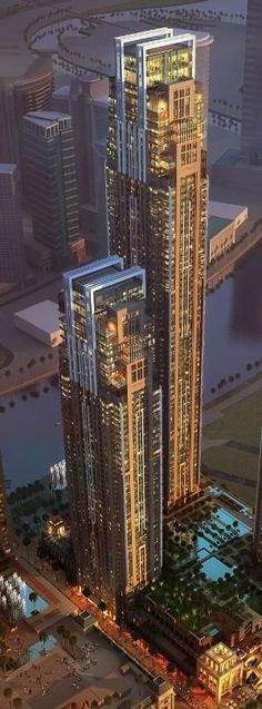 Al Habtoor City Towers, Dubai, UAE by Atkins Architects_74 floors_height 300m. #architecture #skyscraper #tower by maritza