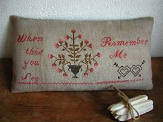 Cross Stitch Pillow - S. Nash Primitives