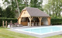 stunning carriage house/barn style outdoor room
