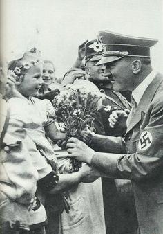 girl giving hitler flowers - Google Search