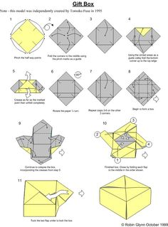 How To Make An Origami Box With Lid Attached