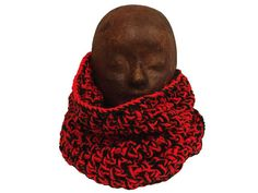 Handmade crochet Irish wool infinity scarf