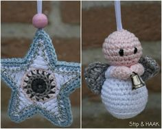 Stip & HAAK: I may hv to breakdown n buy this star pattern, it is absolutely beautiful! Crochet Christmas Gifts, Crochet Christmas Decorations, Holiday Crochet, Crochet Home, Cute Crochet, Holiday Ornaments, Handmade Christmas, Crochet Baby, Christmas Crafts
