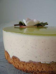 Kermaruusu: Vaniljainen omena-jogurttikakku Cake Recipes, Dessert Recipes, Desserts, Finnish Recipes, Just Eat It, Sweet Pastries, Something Sweet, No Bake Cake, Cheesecakes