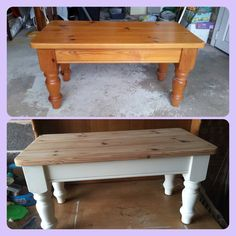 Solid pine shabby chic coffee table Coffee Table Upcycle, Shabby Chic Coffee Table, Pine Coffee Table, Painting Furniture, Furniture Projects, Furniture Makeover, Diy Projects, Repurposed Furniture, Shabby Chic Furniture