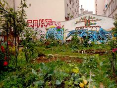 The funky garden at Rue Fessart and Rue Clavel is in close reach of many cafes and bars. - Colette Davidson