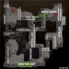 Call outs for dust 2 according to my team (CS:GO)