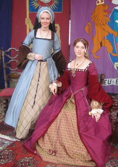 Henrician Period gowns-I love the sleeves on the seated woman.
