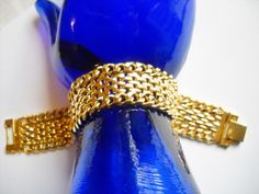 Excited to share the latest addition to my #etsy shop: Bracelet Vintage Chain Link Mesh Gold Tone Mesh Wide Vintage Retro Mid Century Panther Link Tank Track Statement Bracelet http://etsy.me/2AqqnJR #jewelry #bracelet #gold #no #women https://www.etsy.com/shop/FindCharlotte