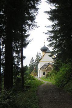 Heiligwasser Restaurant with church nearby. Innsbruck, Austria