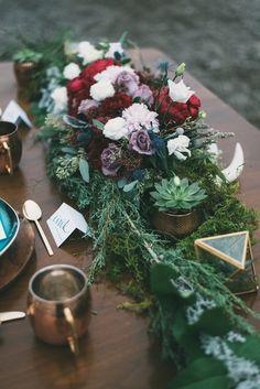 modern organic tablescape - photo by LV Imagery http://ruffledblog.com/nordic-inspired-woodland-wedding